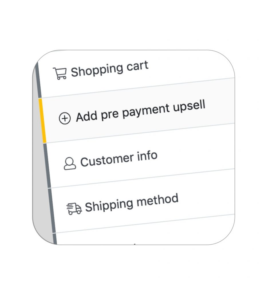 Pre and Post payment upsells