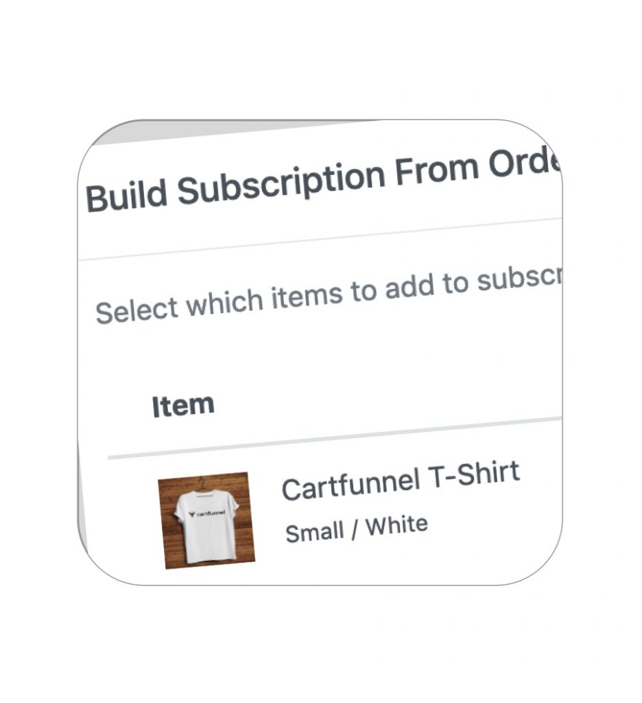 Build subscriptions