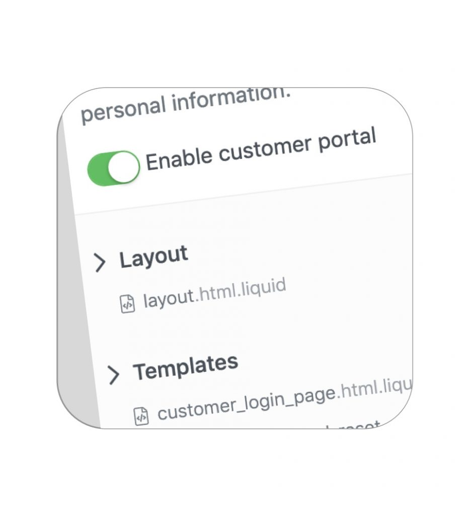 Customizable customer portal