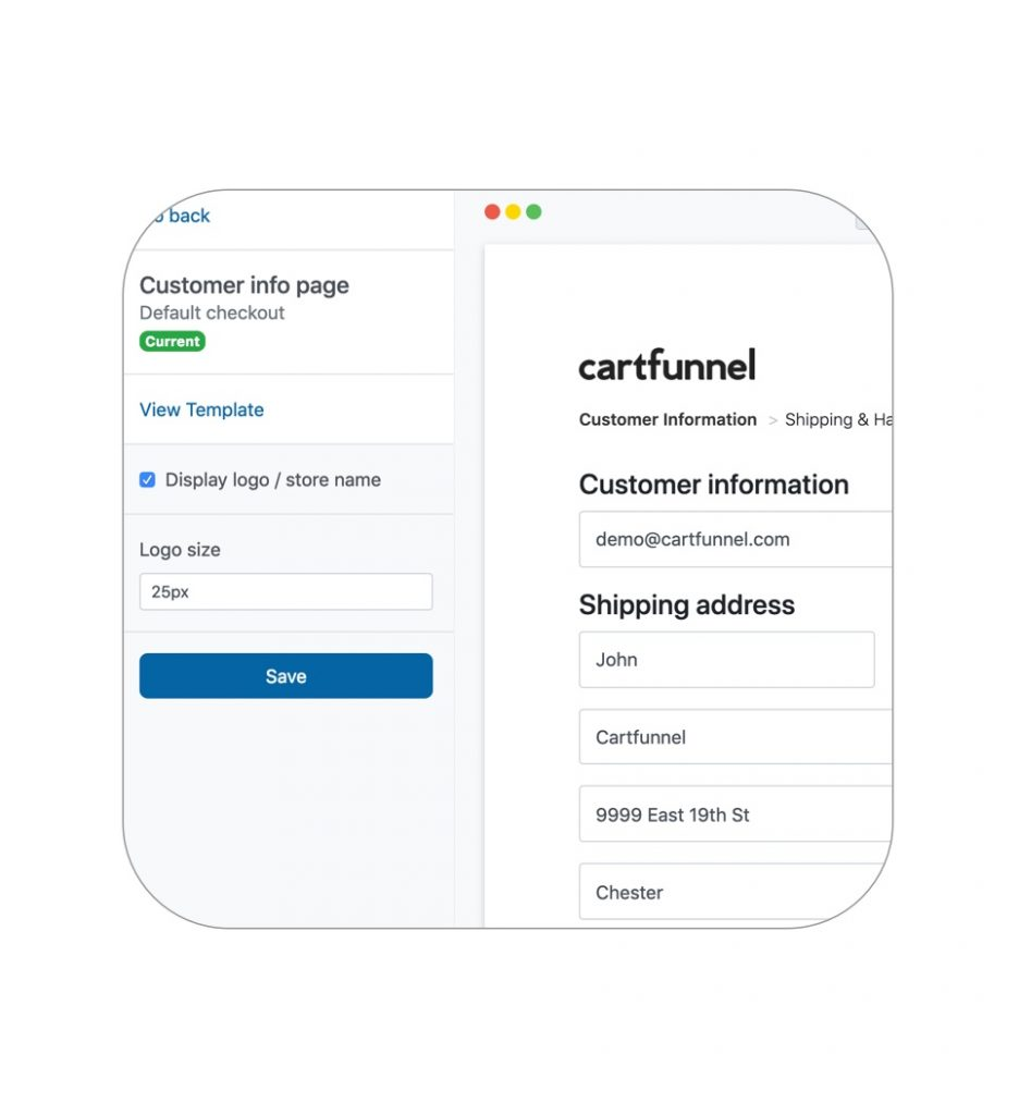Customize Shopify checkout