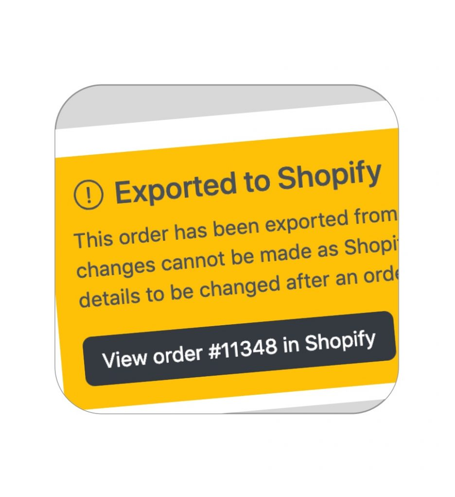 Orders sync with Shopify