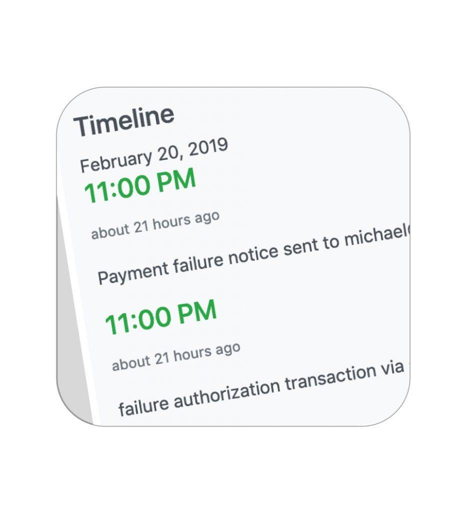 Payment failure notification